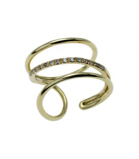 ANILLO ORO 18 KTS CON 14 DIAMANTS 0,15 QUILATES