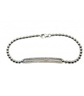 PULSERA DIAMANTS Y ORO BLANCO W190102
